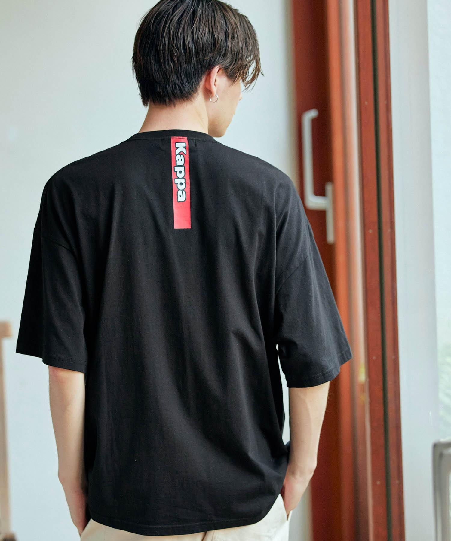 ▽WEB限定 Kappa/カッパ 別注 ビッグシルエット ロゴフロント&バックラバープリント半袖Tシャツ