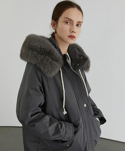 【Fano Studios】【2021AW】Faux fur High neck hooded down jacket FD20Y033