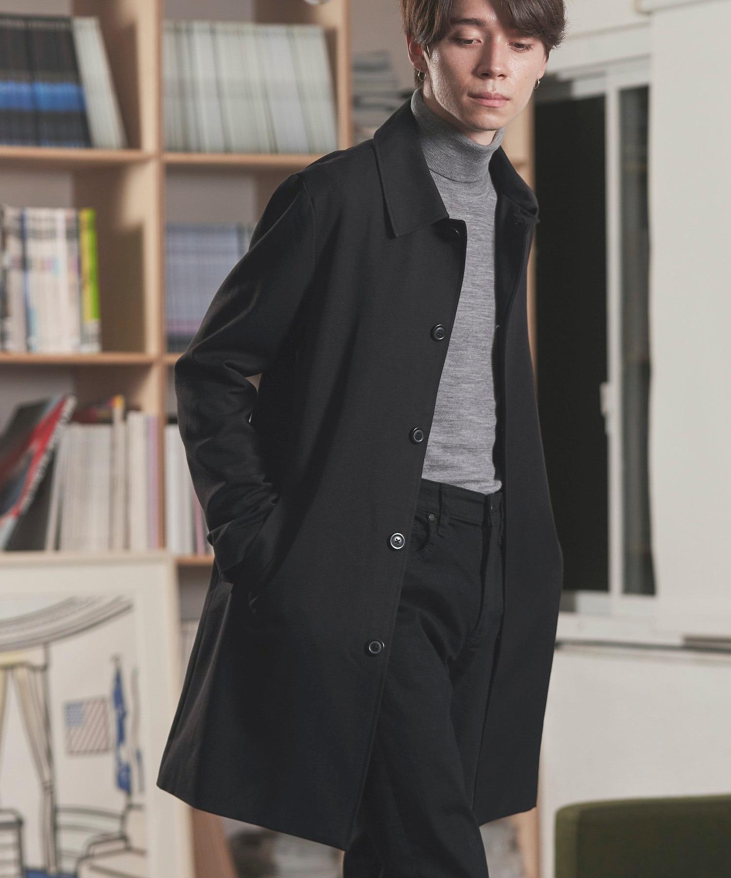 TRストレッチスーツ地ステンカラーコート