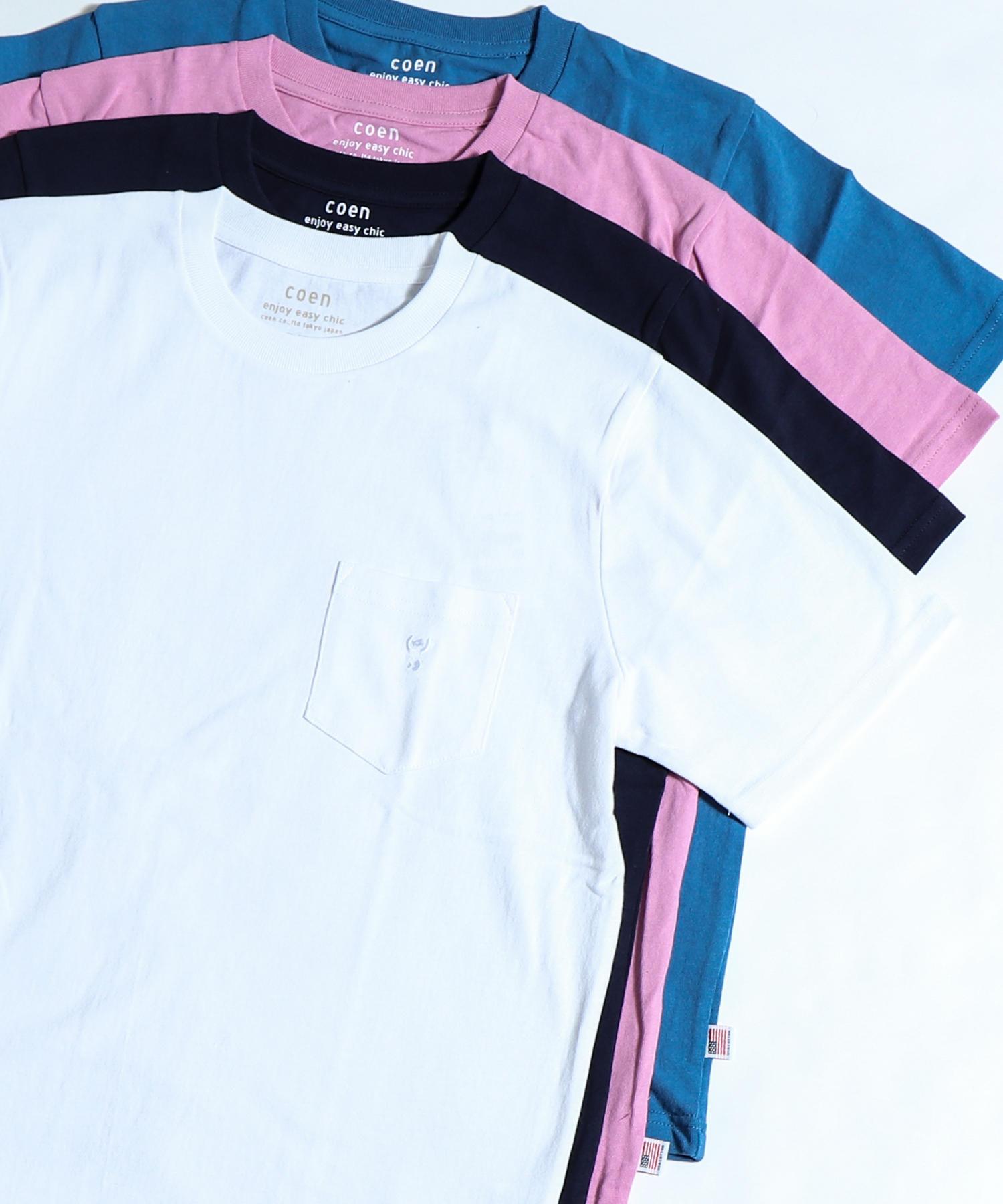 USAコットンクルーネックTシャツ