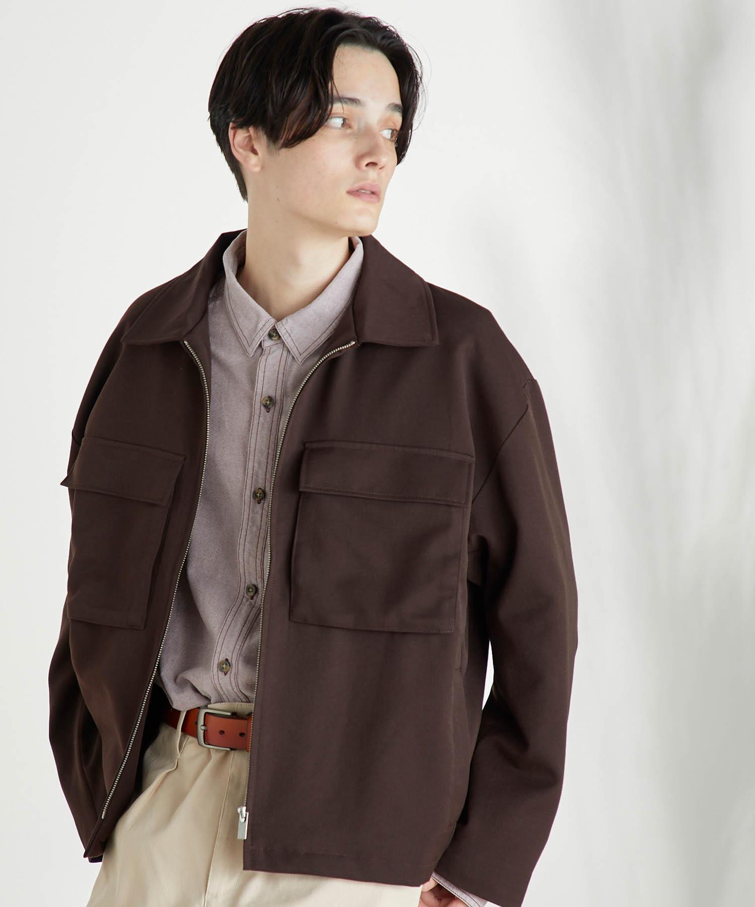 TRストレッチ スーツ地 オーバーサイズ CPOジャケット/セットアップ可