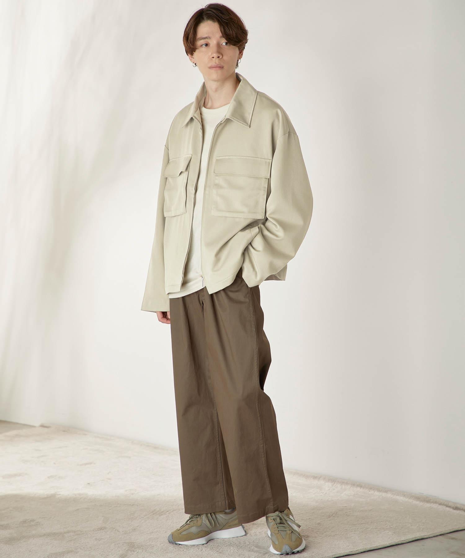 TRストレッチ スーツ地 オーバーサイズ CPOジャケット2021SPRING