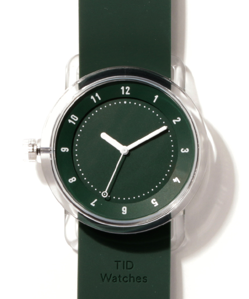 TID Watches No.3 TR90 Green/Green Silicone Wristband <38mm>