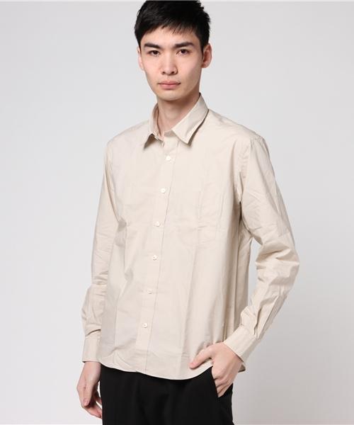 SGライン 綿100% ベージュ ジャケットインシャツ