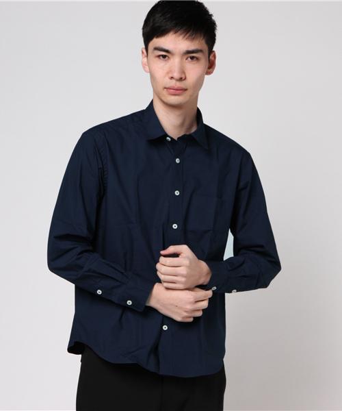 SGライン 綿100% ネイビー ジャケットインシャツ