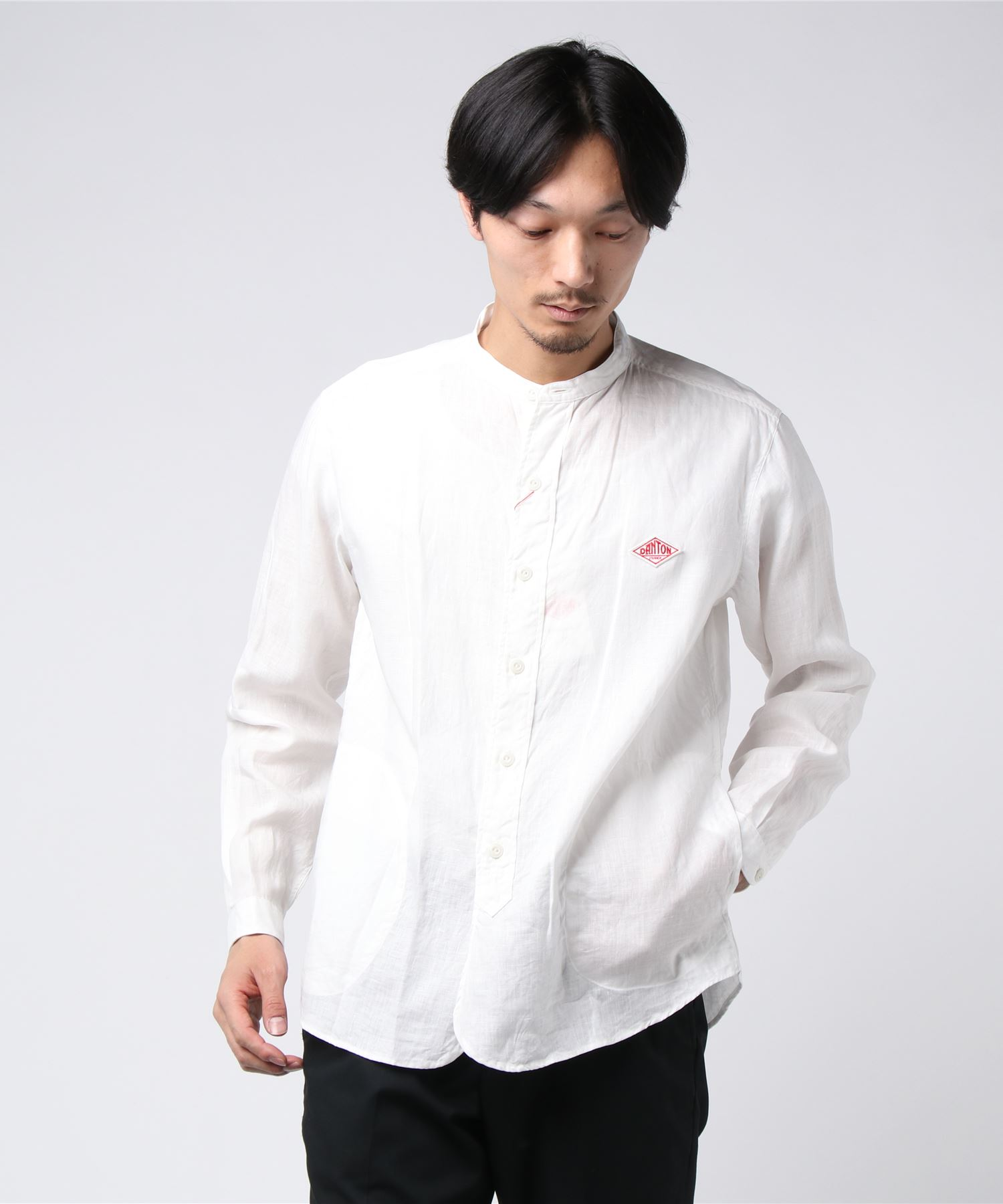 ダントン DANTON / ロゴワッペンバンドカラーシャツ