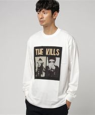 THE KILLS/NO WOW FRONT プリント リブ付Tシャツ