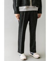 <monkey time> NEP LITE TWEED SIDE BUTTON TROUSER/トラウザー