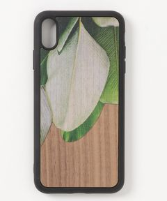 """WOOD'D Real wood Snap-on cover for iPhone XS-Max """"Leaves"""""""