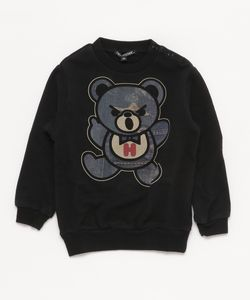 DENIM PATCH BEAR pt スウェット【XS/S/M】