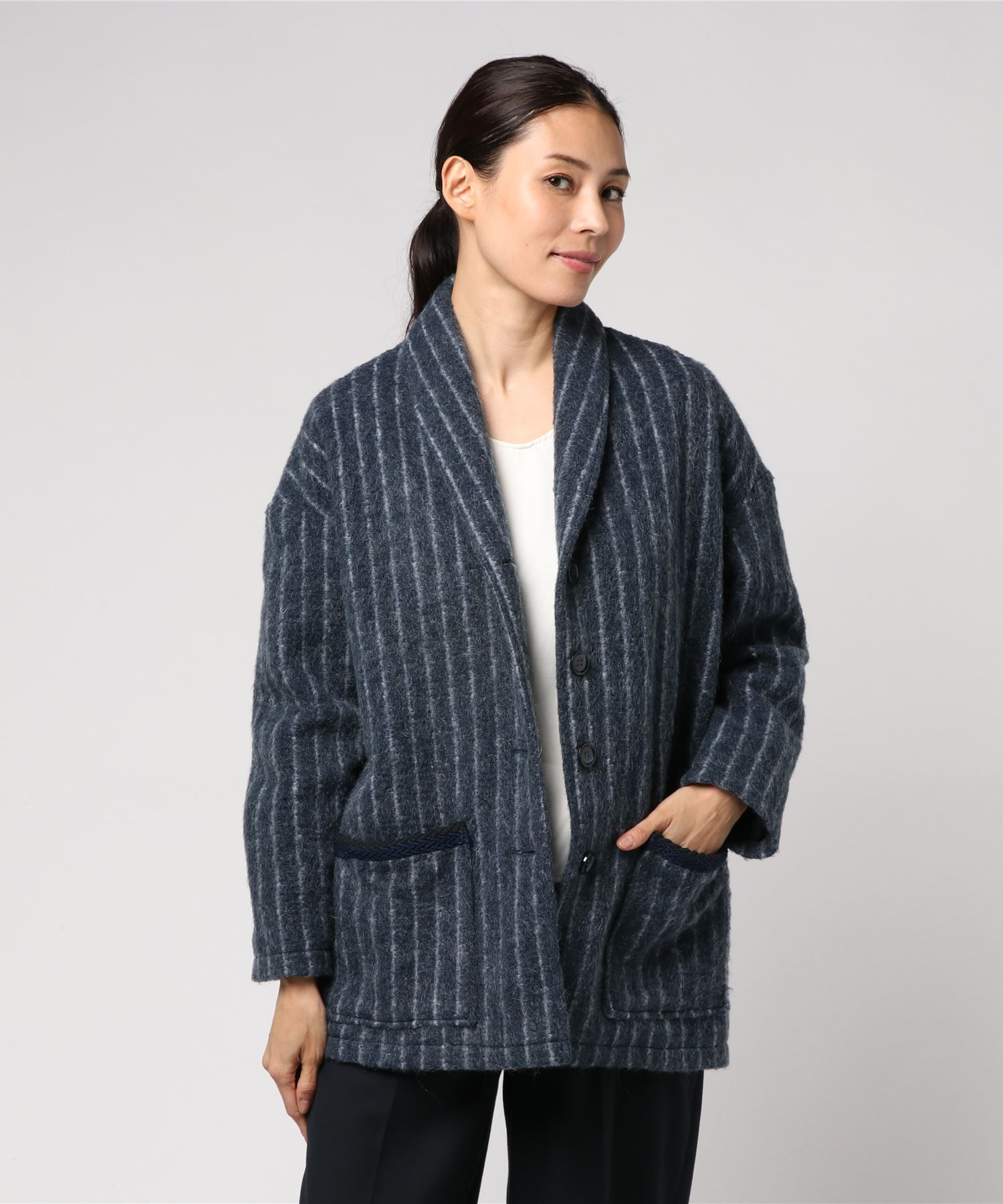 SUZIE WINKLE ストライプウールジャケット