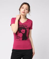 GIRL SHOW VネックTシャツ