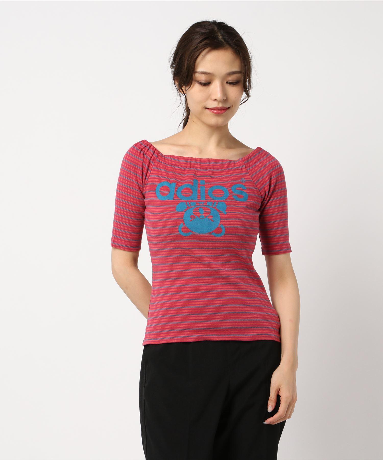 ADIOS pt オフショルダーTシャツ