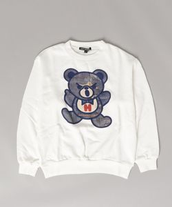 DENIM PATCH BEAR pt スウェット【L】