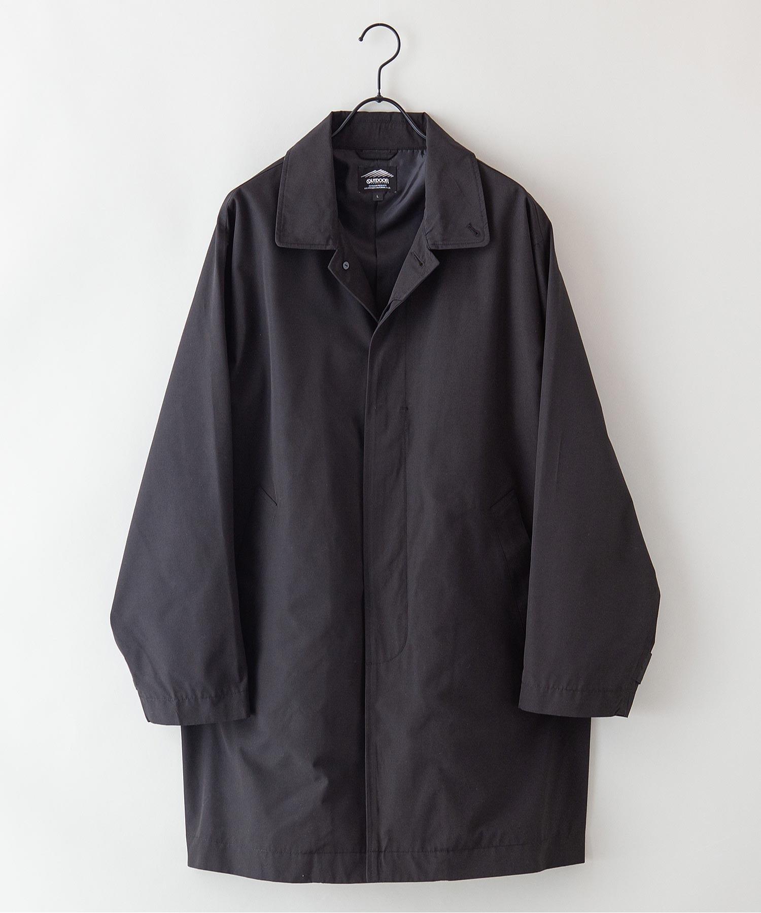 【着るバッグシリーズ】7ポケットステンカラーコート ビジネスシーンにもおすすめ 襟裏ワンポイントブランドロゴ