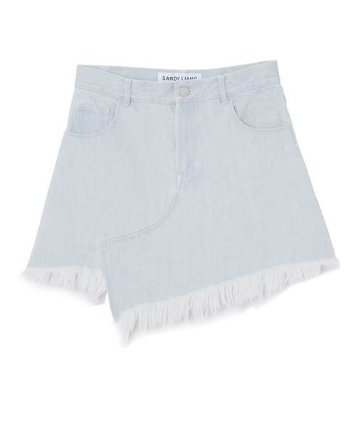 SANDY LIANG CROMBIE DENIM SKIRT
