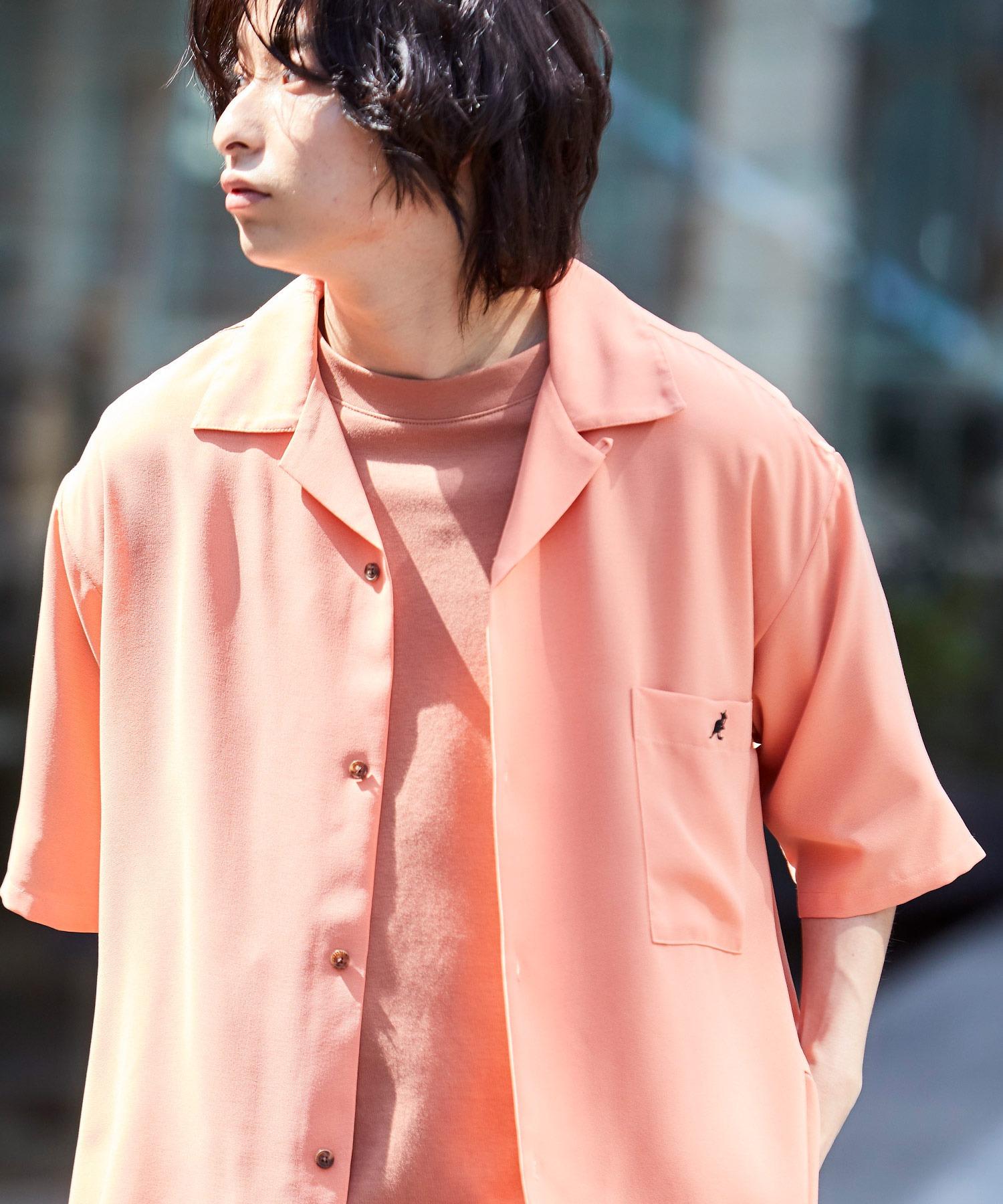 ▽WEB限定 KANGOL/カンゴール 別注 リラックスオープンカラーシャツ(1/2スリーブ) 2020