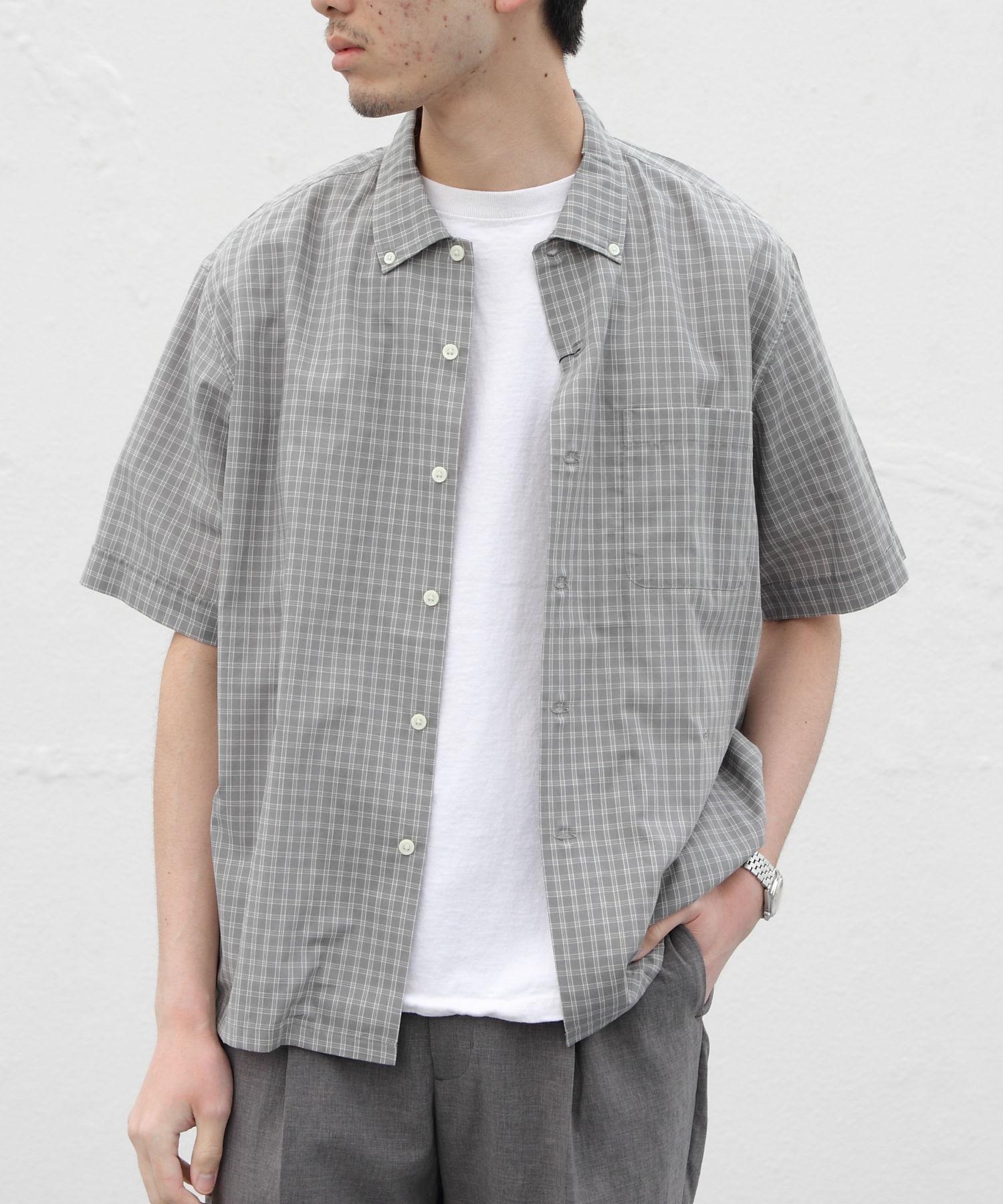 GYMPHLEX/ジムフレックス チェックシャツショートスリーブ T/C CHECK S/S J-3811