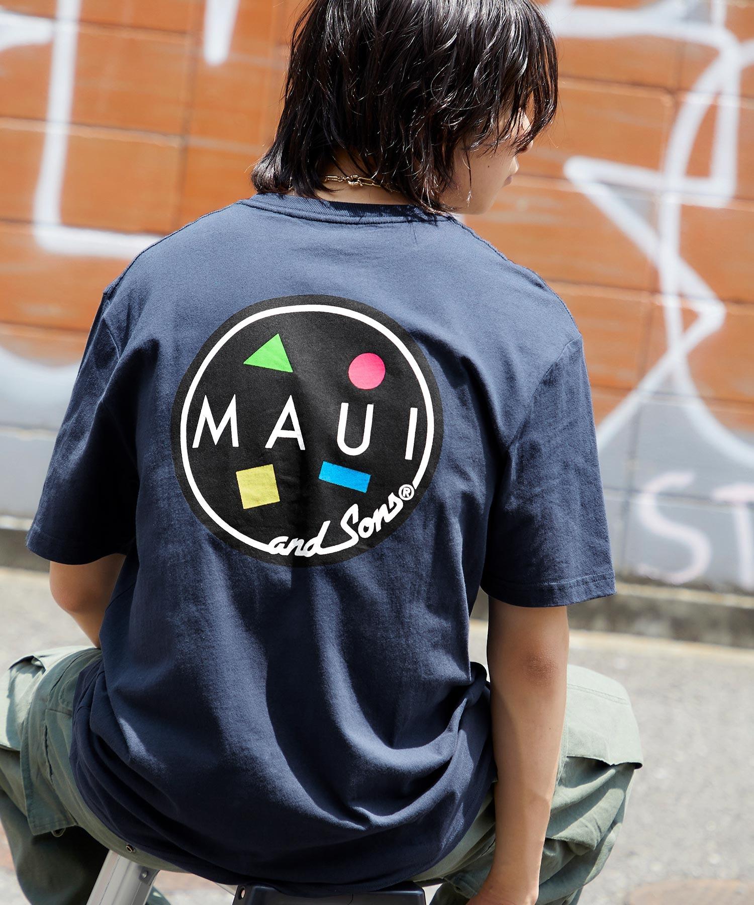 MAUI and Sons/マウイアンドサンズ S/S T-SHIRT COOKEI LOGO PRINT バッククッキーロゴプリント半袖Tシャツ
