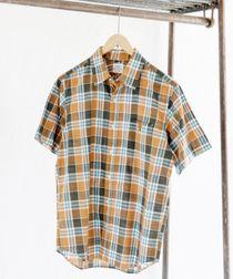 ウォッシュチェックシャツ