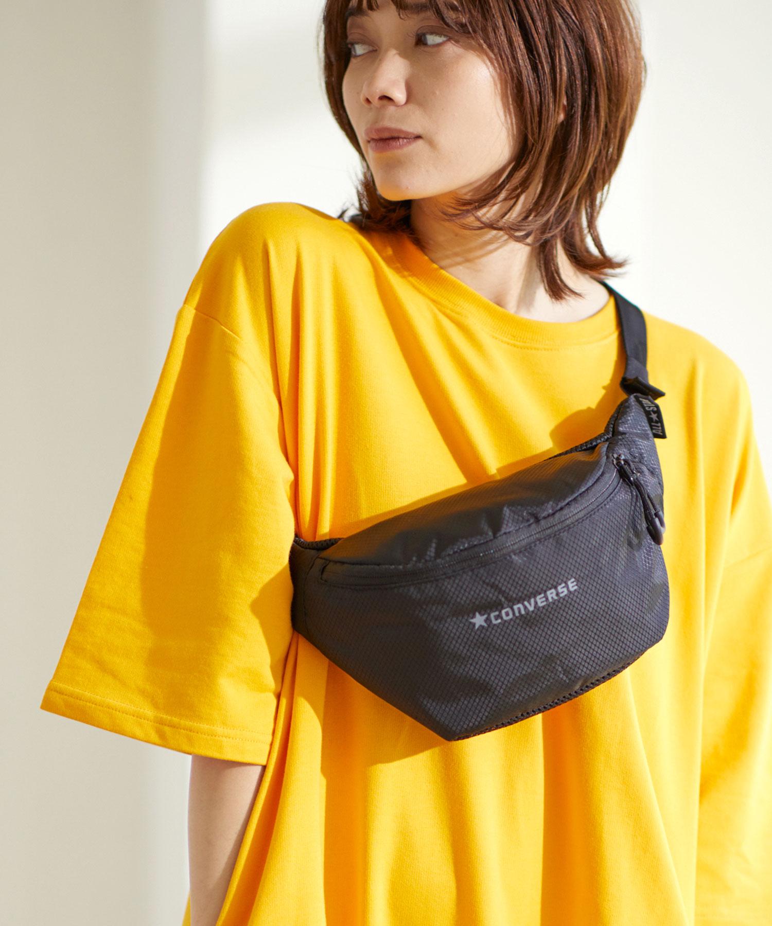 【CONVERSE WAIST BAG】コンバース リップ ロゴ ウエストバッグ