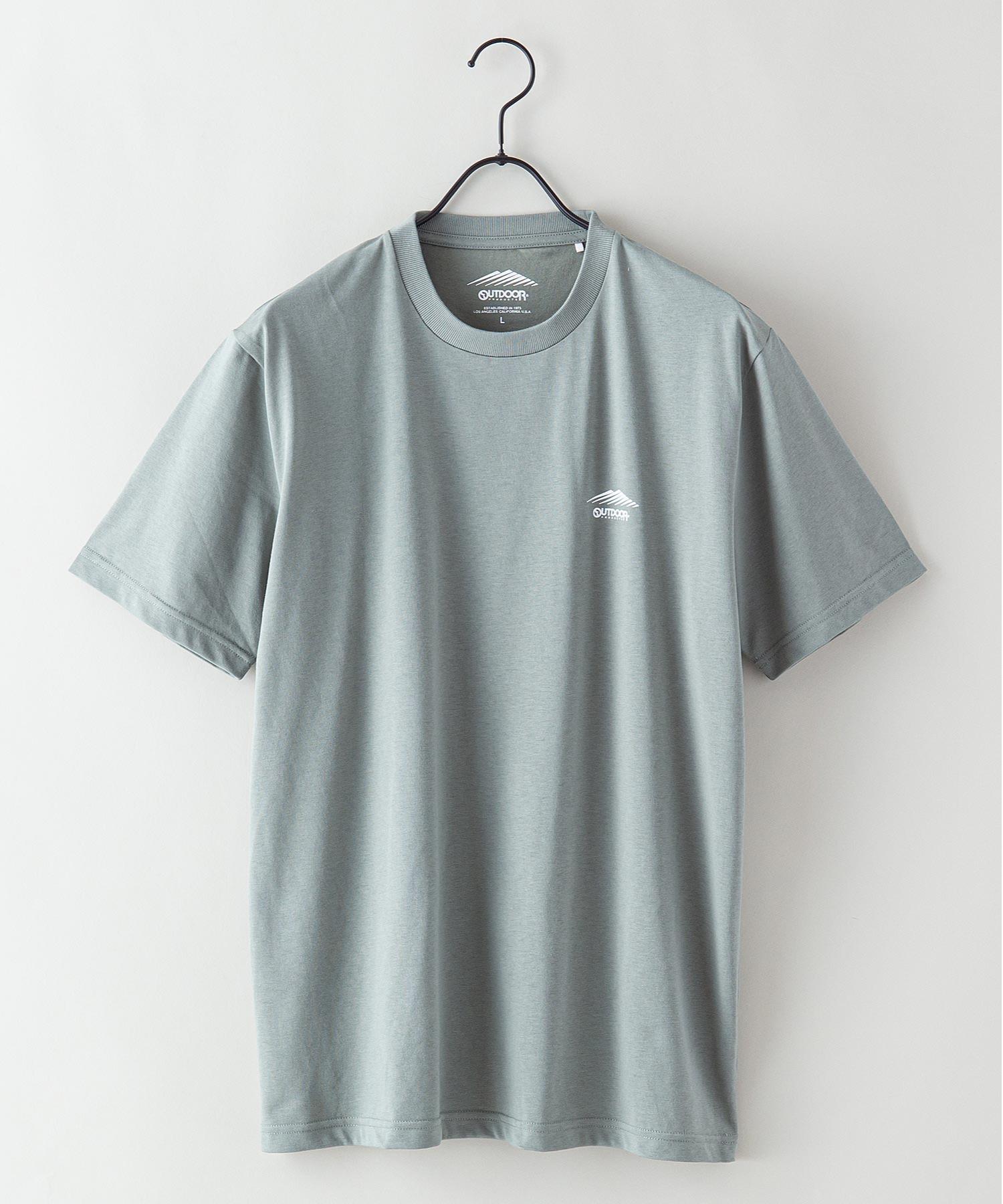 ドライ機能付き(速乾機能)ワンポイントブランドロゴ/ビッグシルエットTシャツ