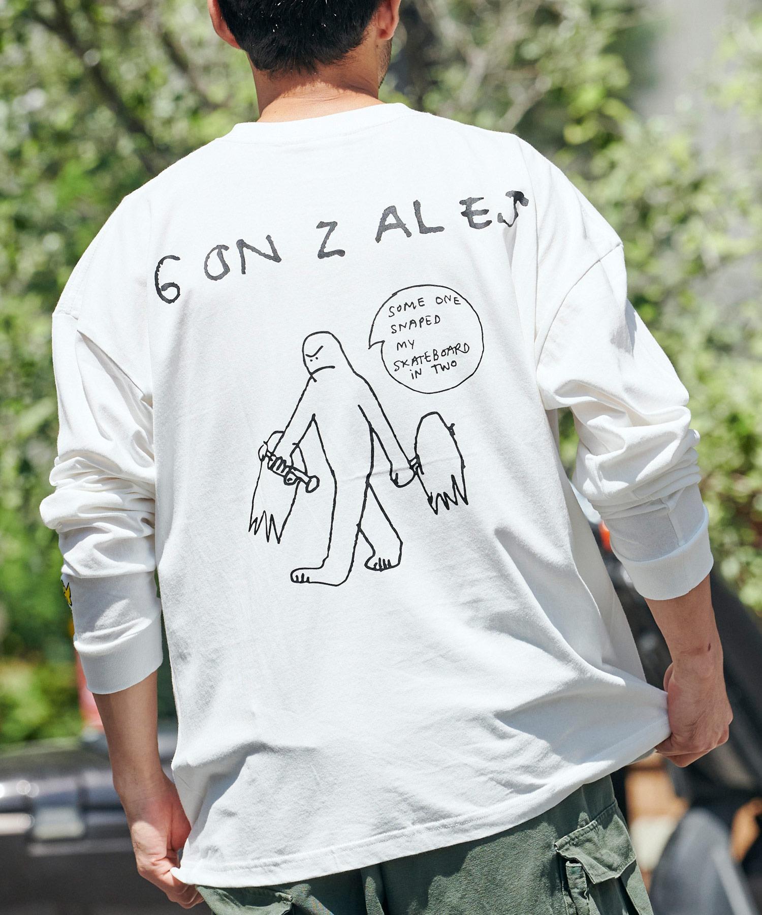 Mark Gonzales/マークゴンザレス MONO-MART別注 ビッグシルエット背面BIGプリント 長袖Tee
