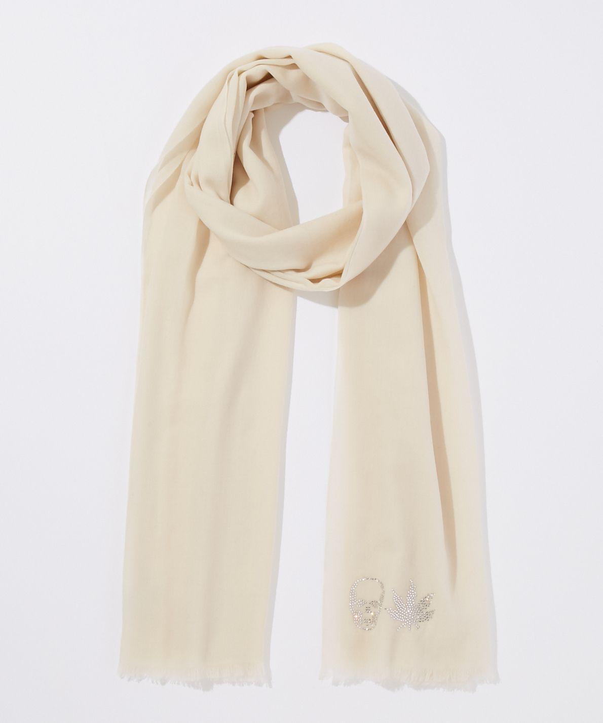 ルシアン ペラフィネ lucien pellat-finet / クリスタル スカル&リーフ スカーフ