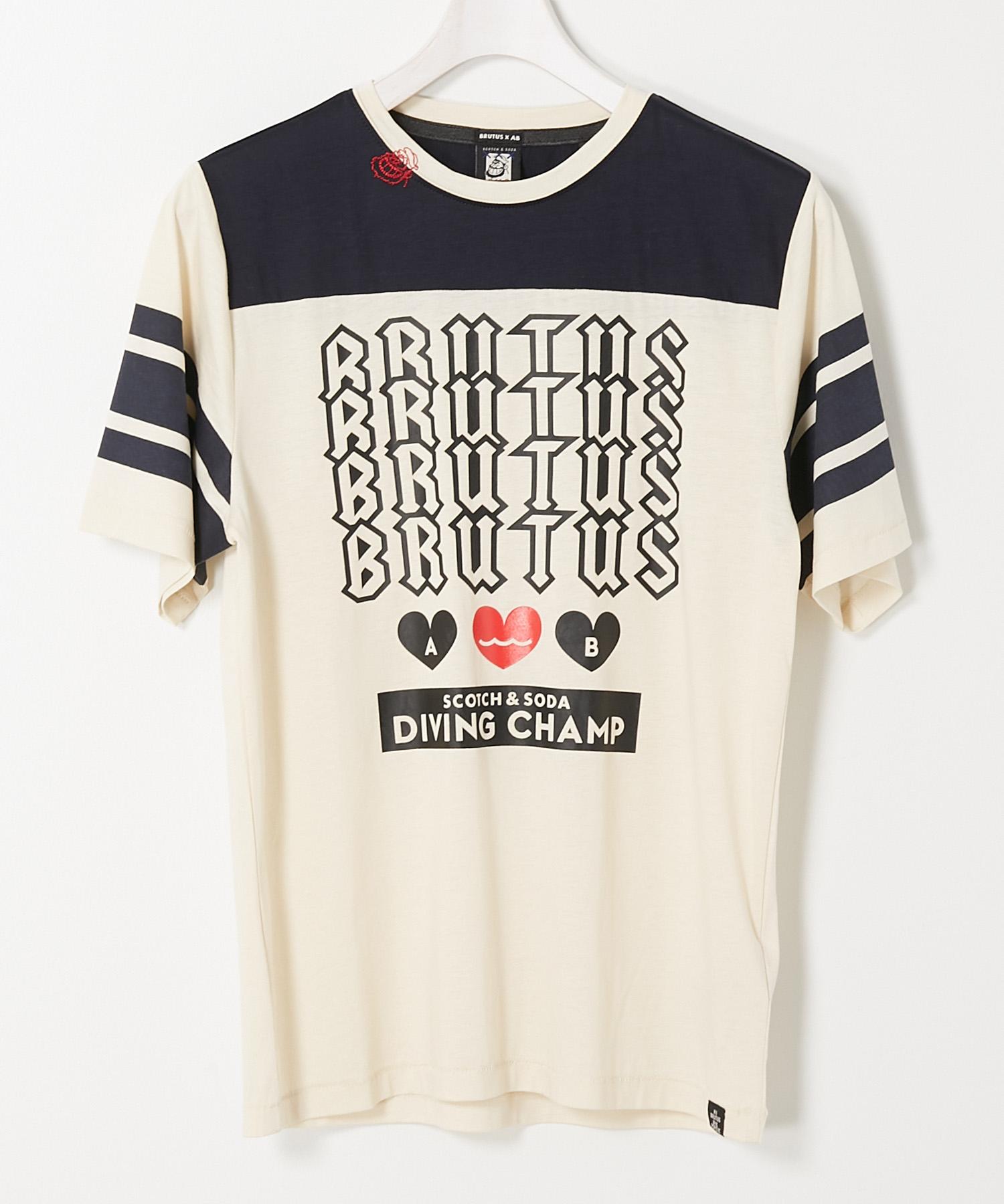 """SCOTCH & SODA スコッチアンドソーダ / """"BRUTUS""""アートワーク Tシャツ"""