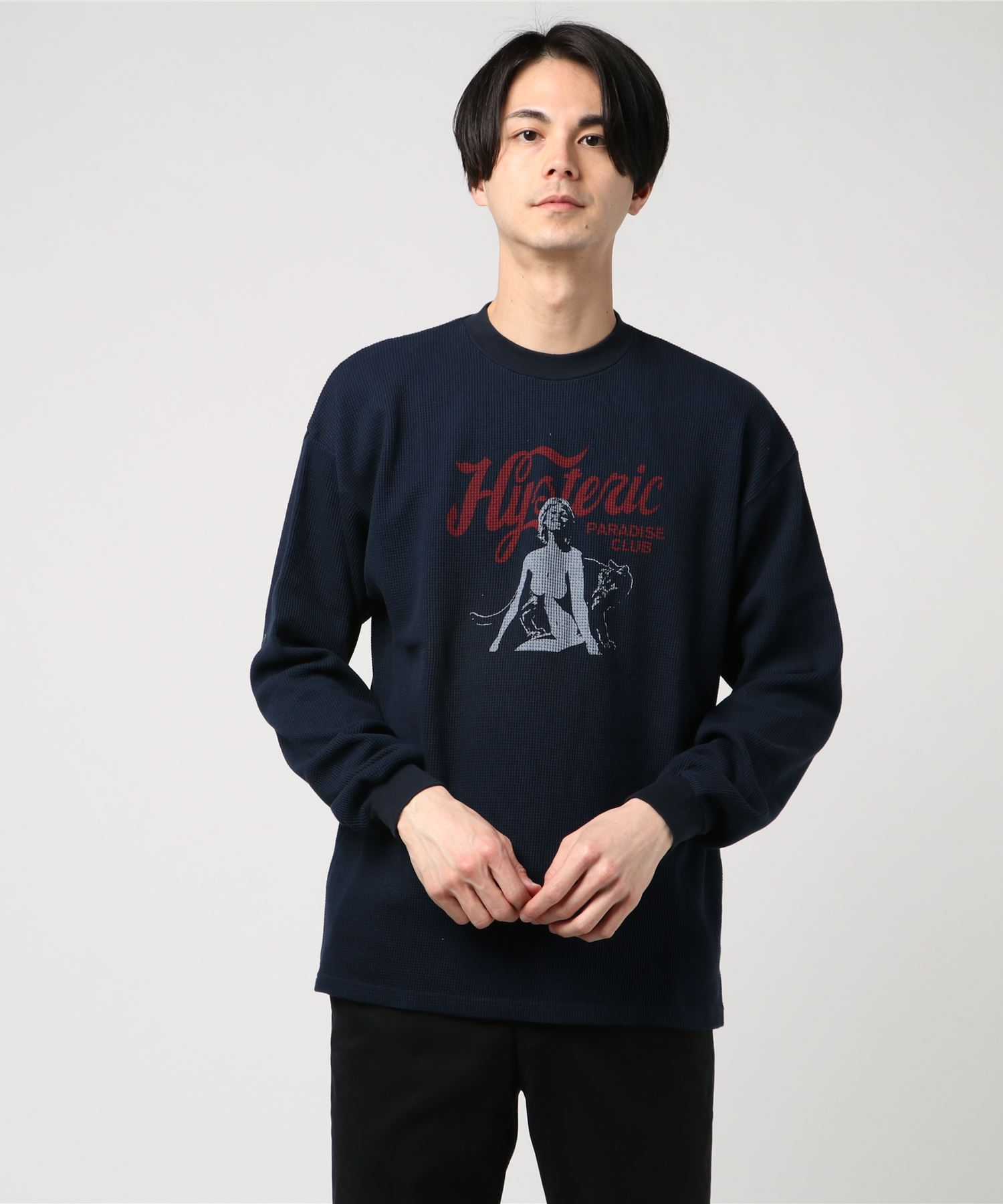 MOUNTAIN CAT pt リブ付Tシャツ
