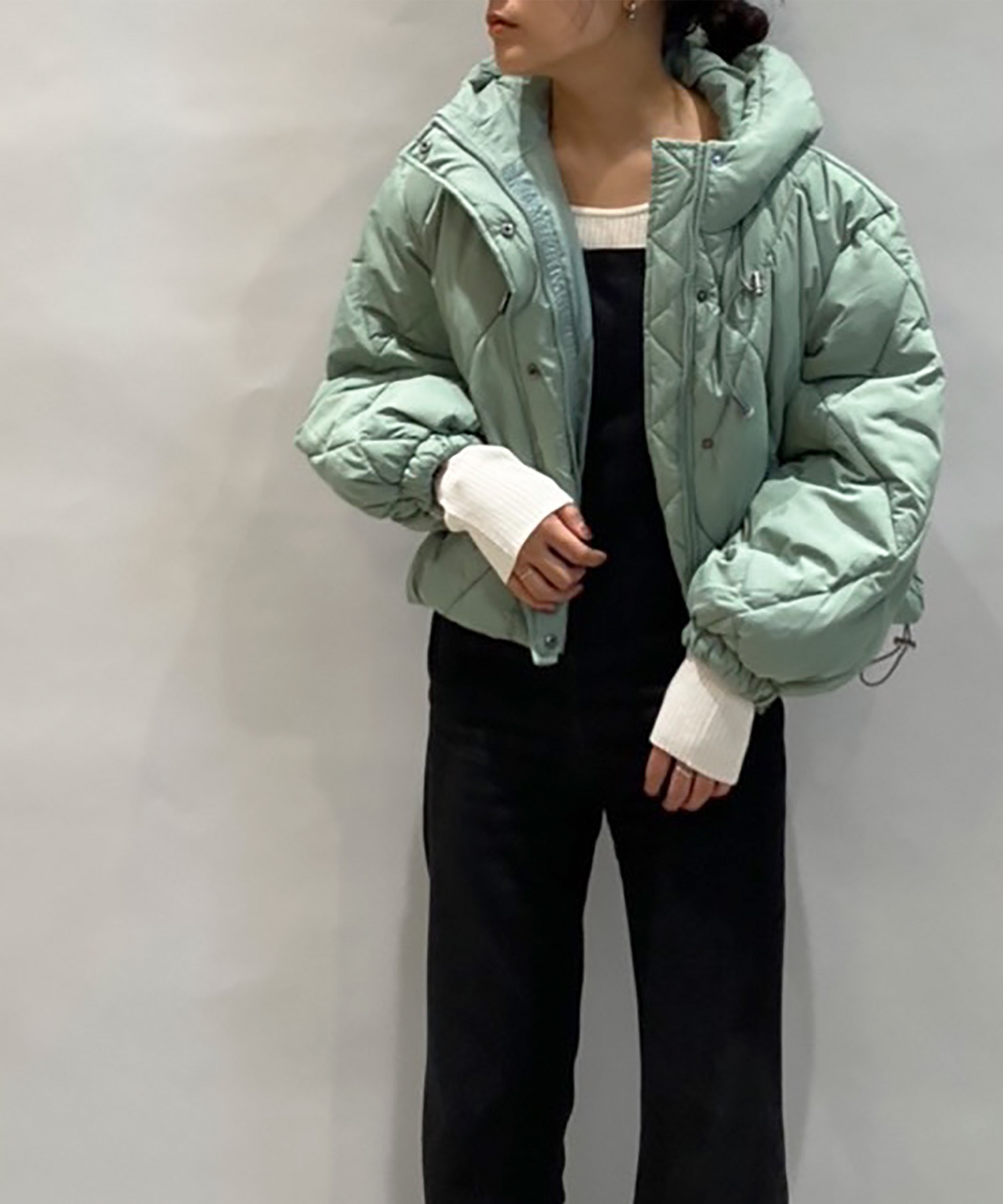 ダイヤキルティング中綿ジャケット