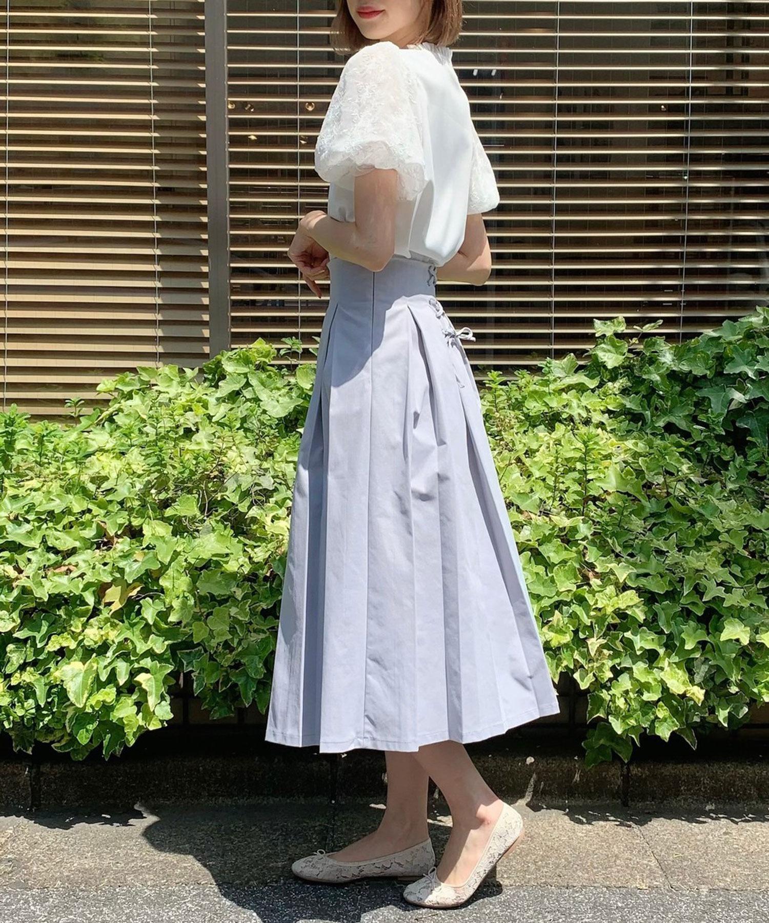 ボックスプリーツロングスカート