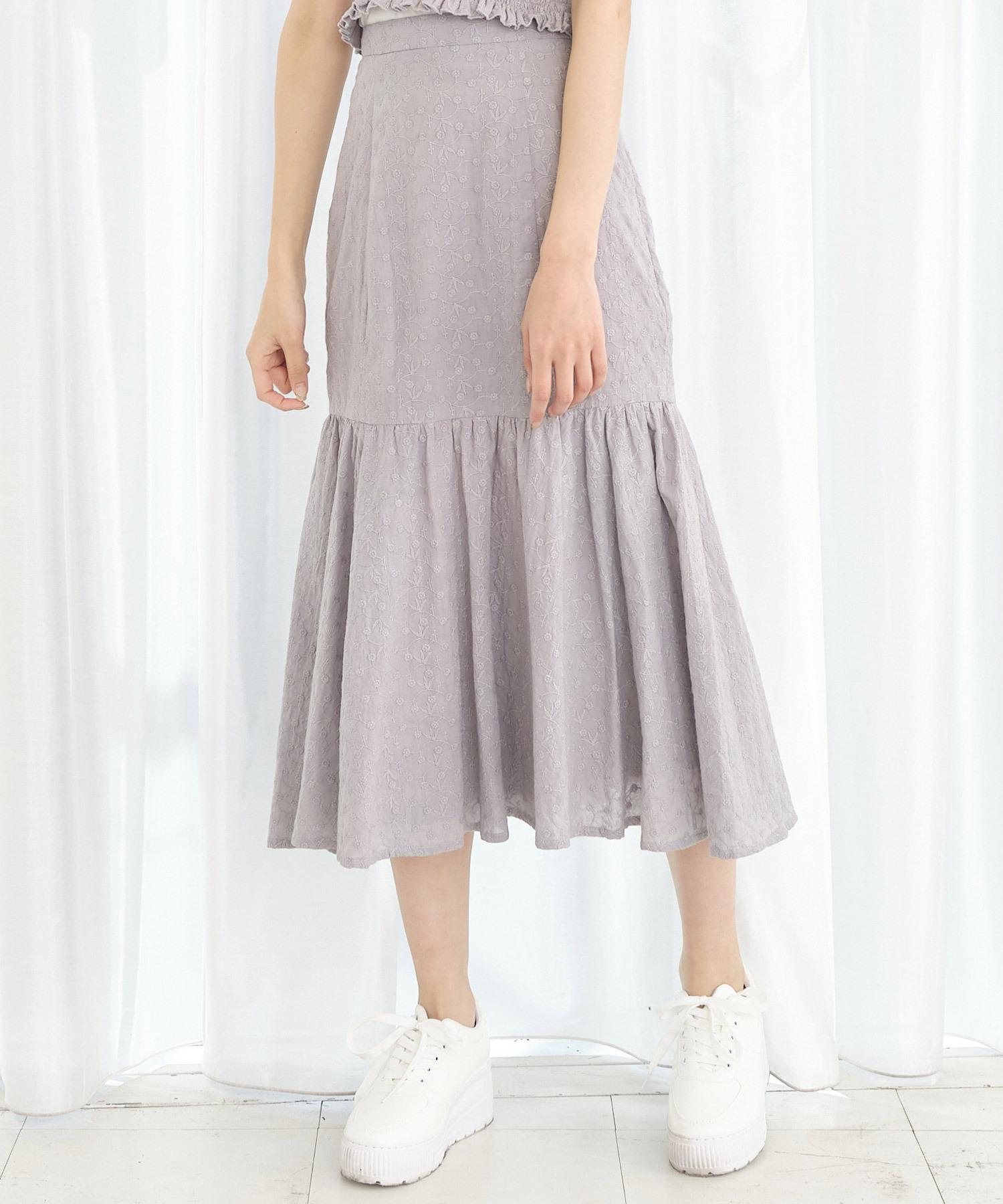 コットンレースマーメイドスカート