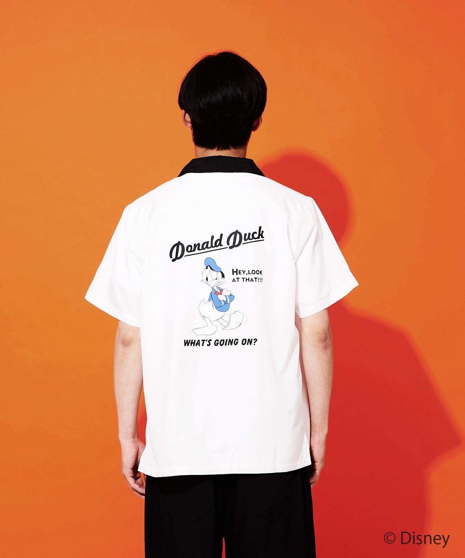 【DISNEY/ディズニー】バックプリントオープンカラー(開襟)シャツ