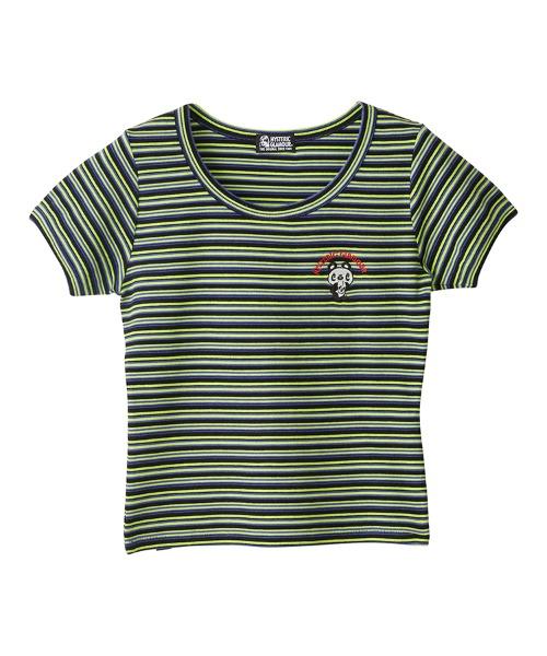 SKULL PANDA刺繍 Tシャツ