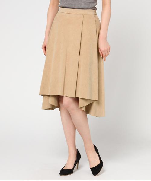 【Dignite collier】フェイクスエードスカート