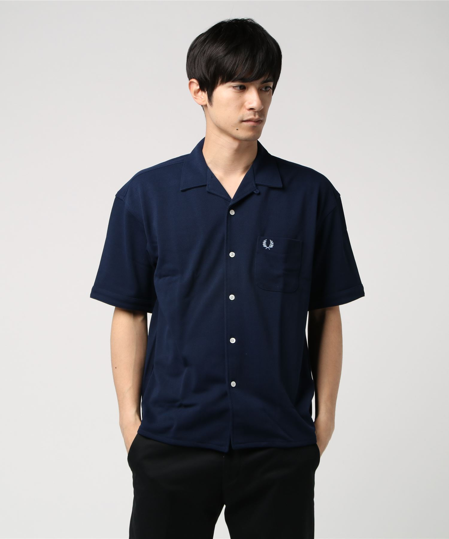 FRED PERRY 開襟半袖シャツ
