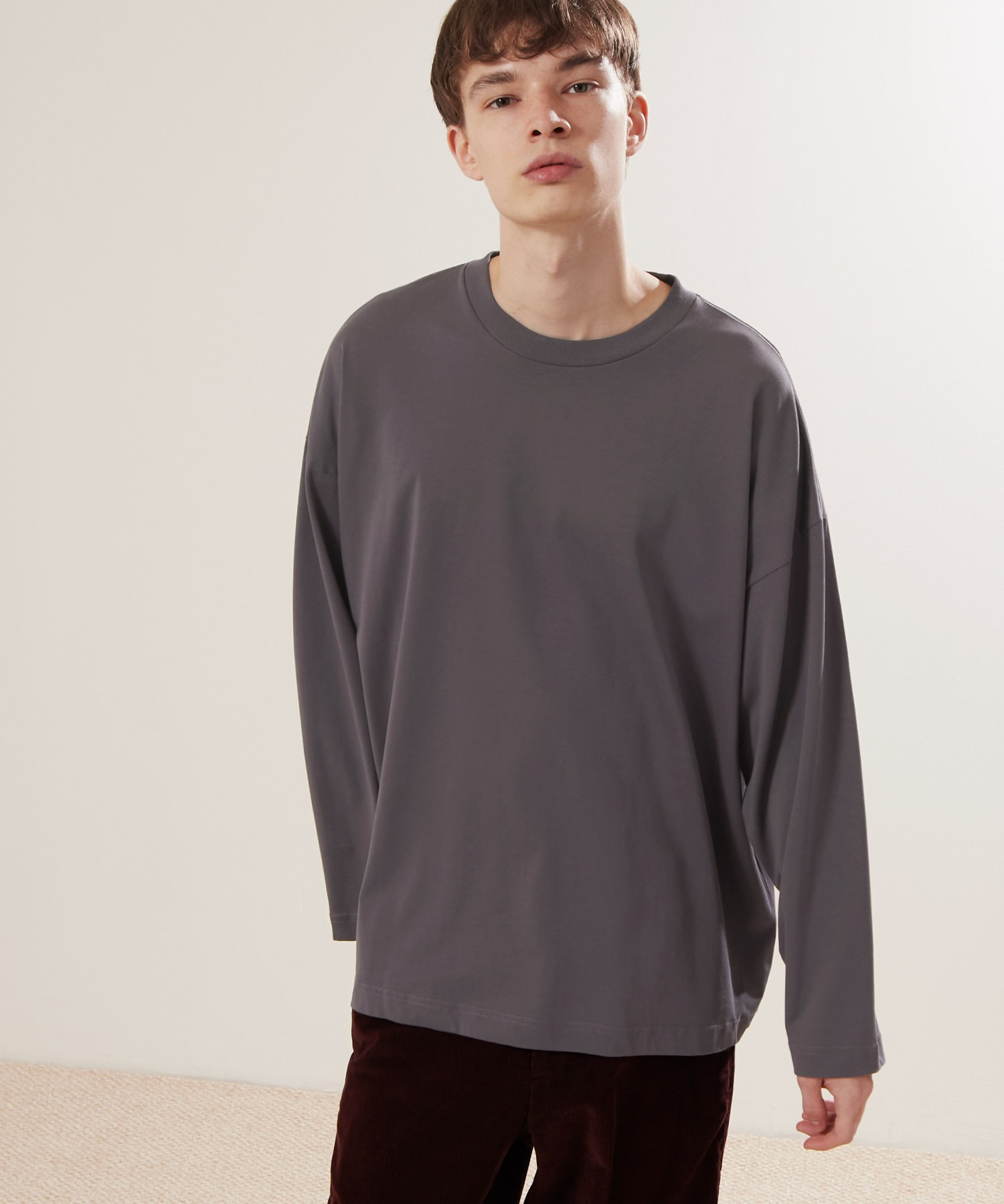 シルケットライク天竺 ワイドスリーブ L/S カットソー EMMA CLOTHES 2021SPRING