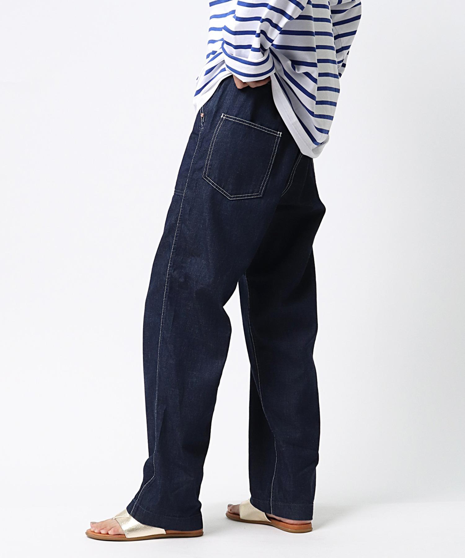 【GRANDMA MAMA DAUGHTER/グランマ ママ ドーター】# DENIM SIDE ZIP PANTS サイドジップデニム GP007OW