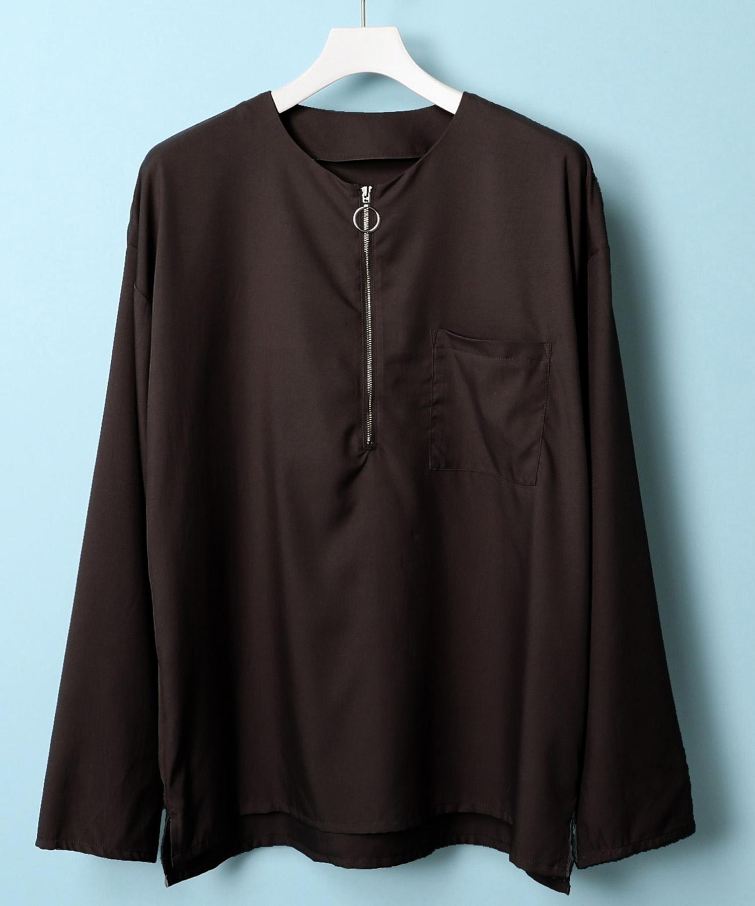 アメリカンラグシー AMERICAN RAG CIE / ハーフZIPノーカラープルオーバーシャツ【WEB限定】