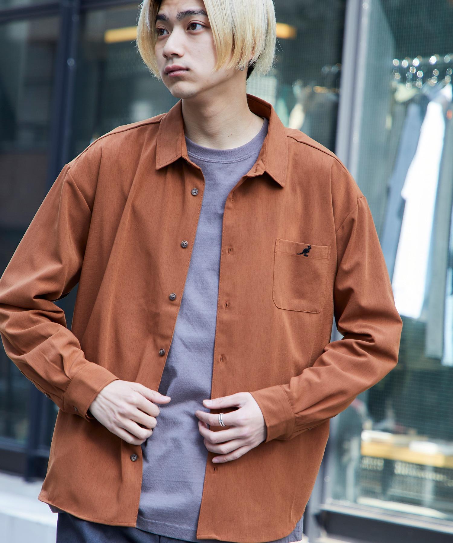 KANGOL/カンゴール 別注 L/S オーバーサイズレギュラーカラーシャツ(2019AW)