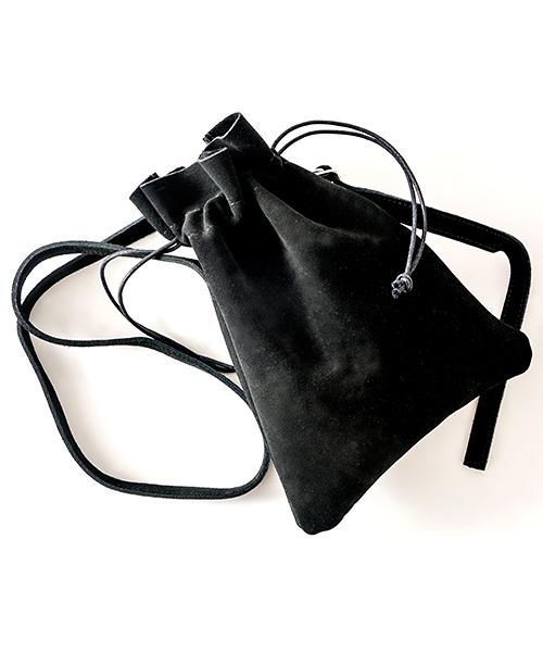【インフルエンサー多数着用】Rename スエード 巾着バッグ  / ショルダーバッグ  (ユニセックス)