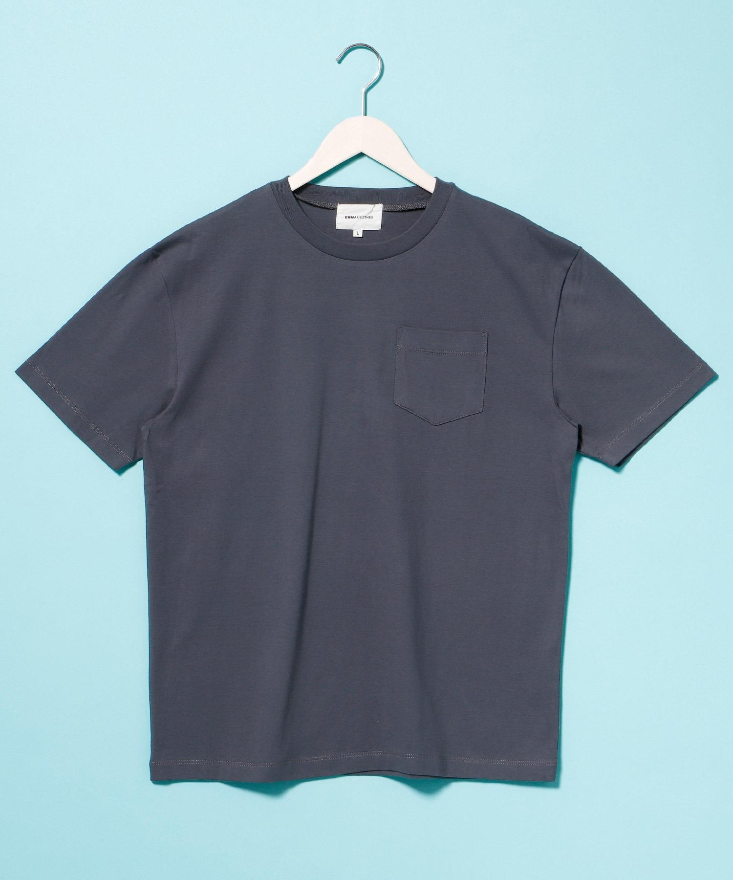 コーマビッグシルエットポケットカットソー(1/2 sleeve)