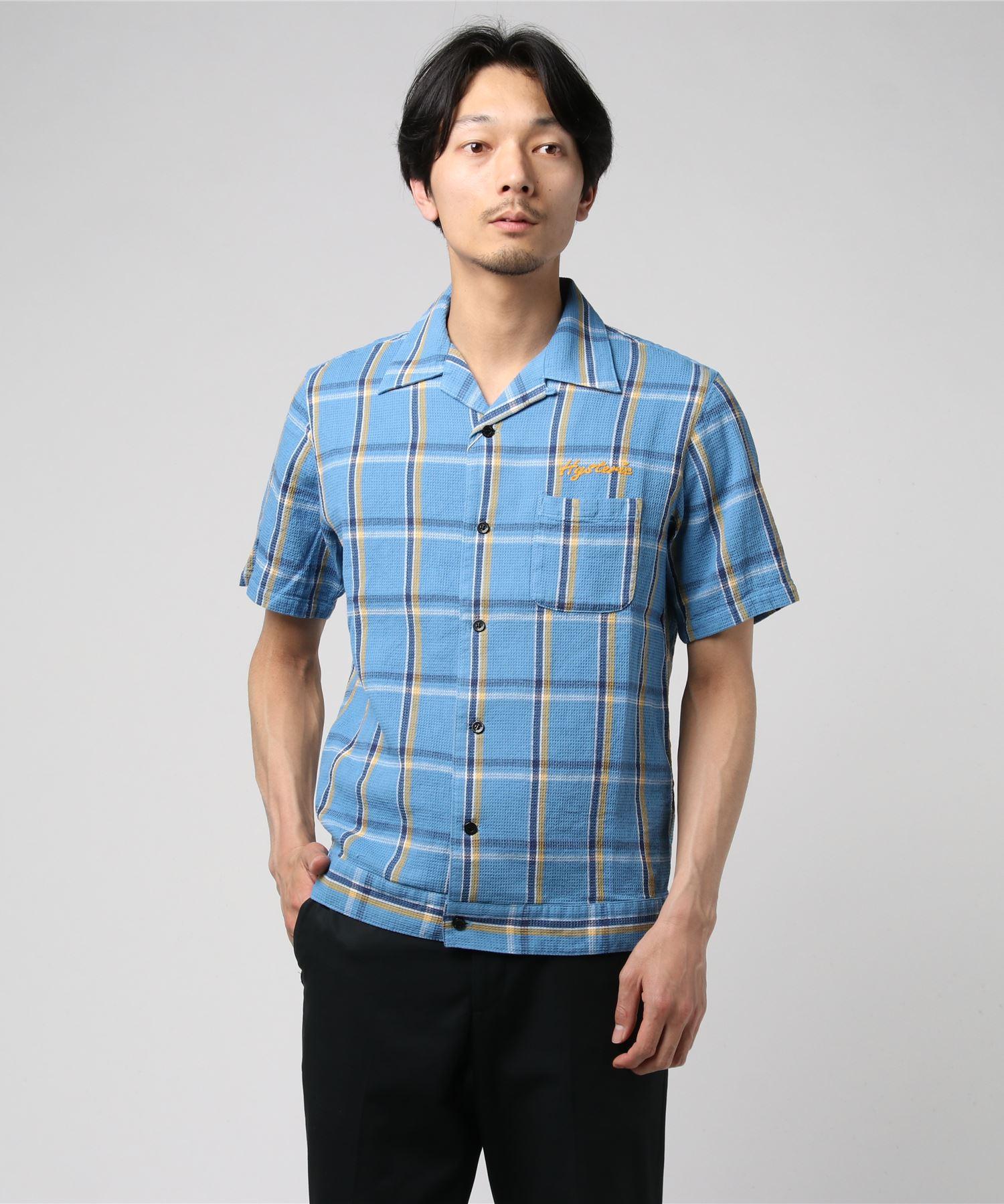 Hysteric Lovers刺繍 半袖オープンカラーシャツ