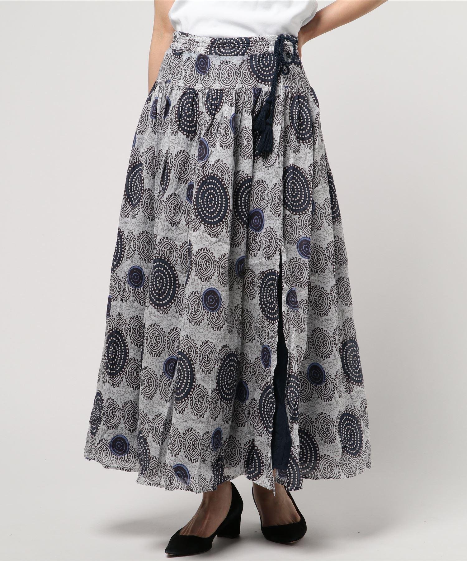 【Le Melange】リバーシブルプリントスカート