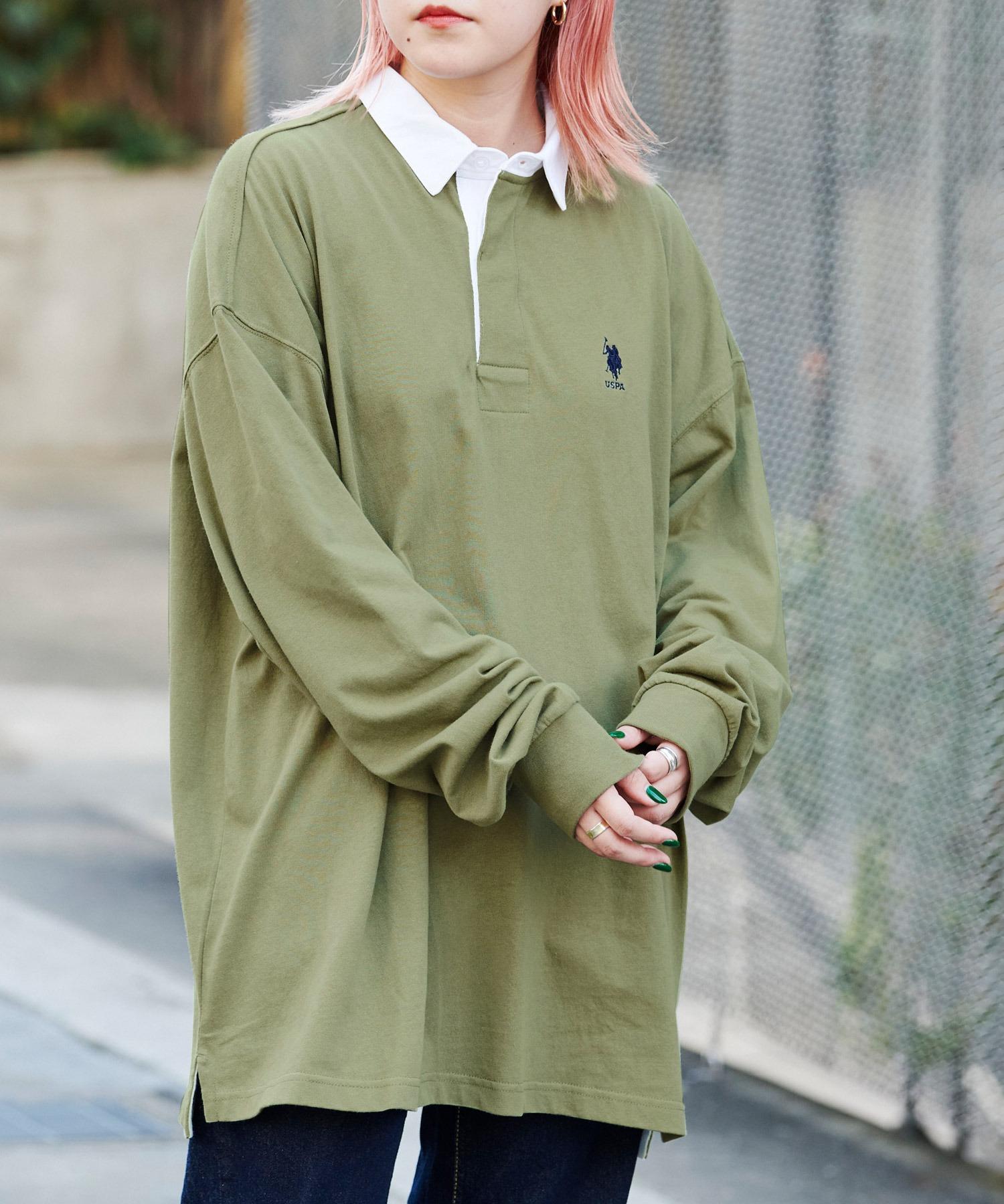 U.S. POLO ASSN. /ユーエスポロアッスン 別注 ワンポイント刺繍 オーバーサイズ ラガーシャツ