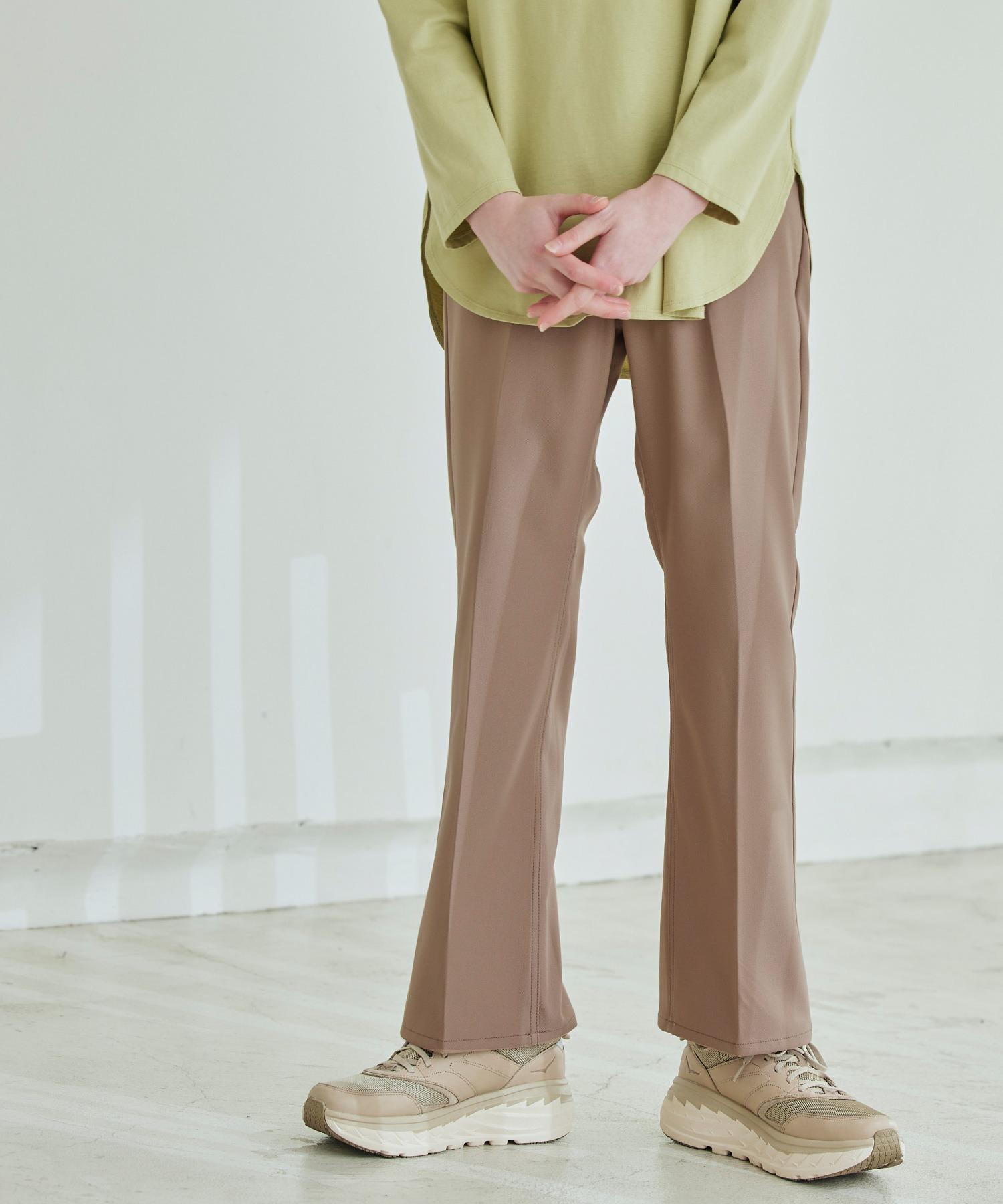Wrangler/ラングラー WRANCHER DRESS スタプレ ランチャーストレッチツイル センタープレスセミフレアパンツ