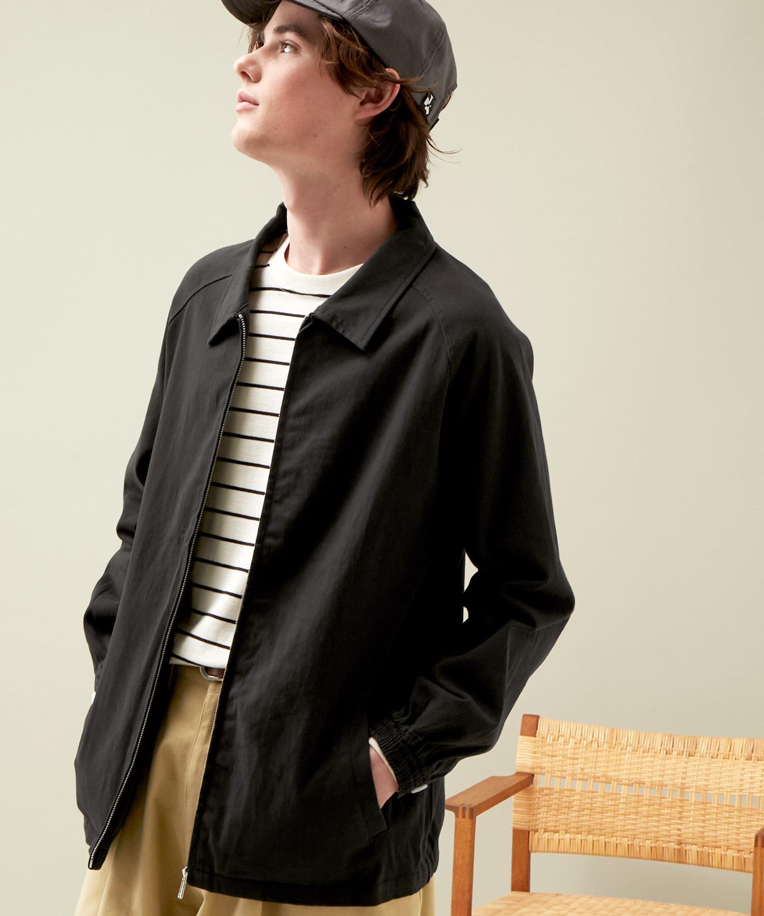 コットンツイル/デニム/ストライプ/チェック ジップブルゾン ジャケット/スイングトップ/スウィングトップ2020AW(EMMA CLOTHES)