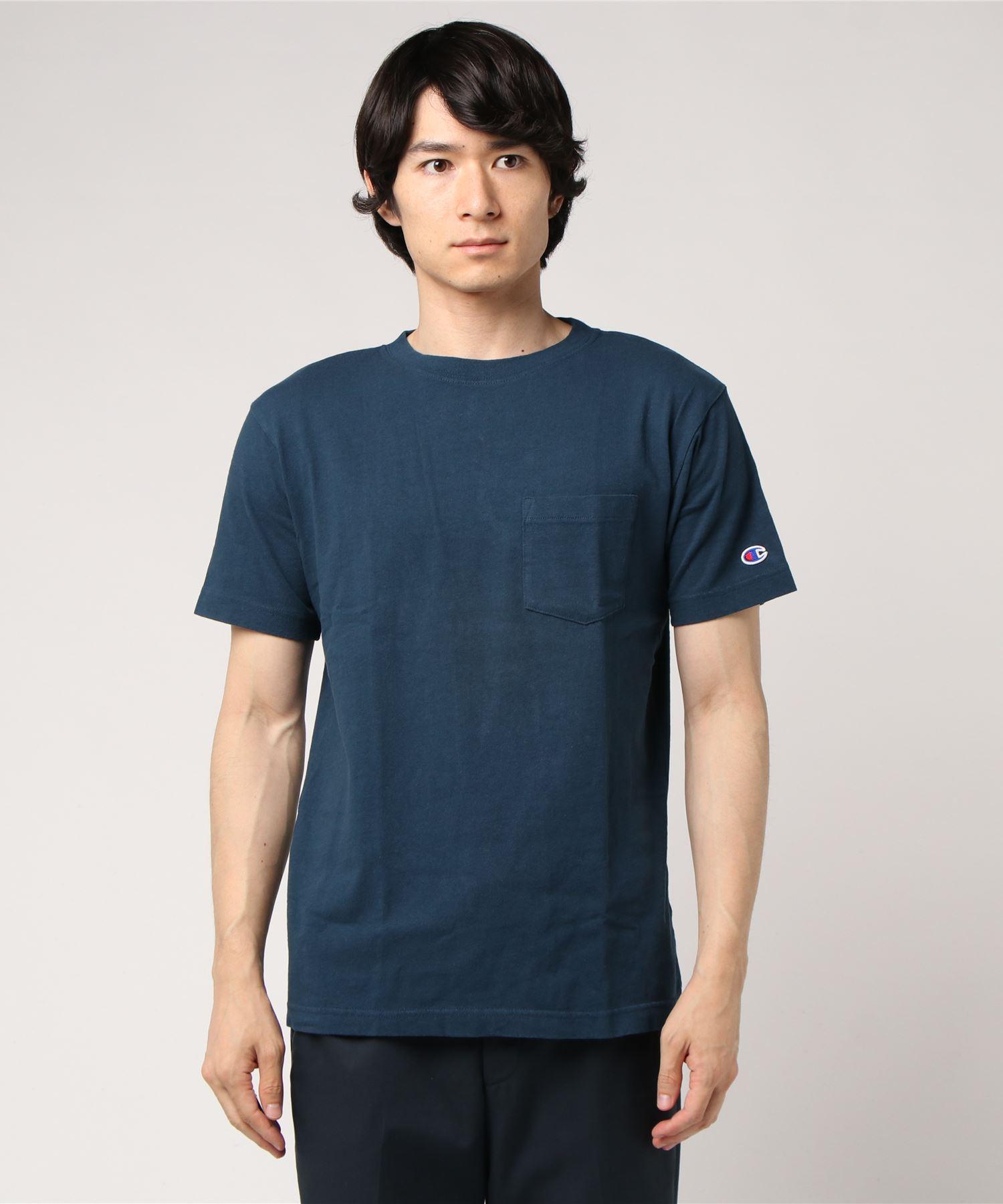 【Champion】ポケットTシャツ