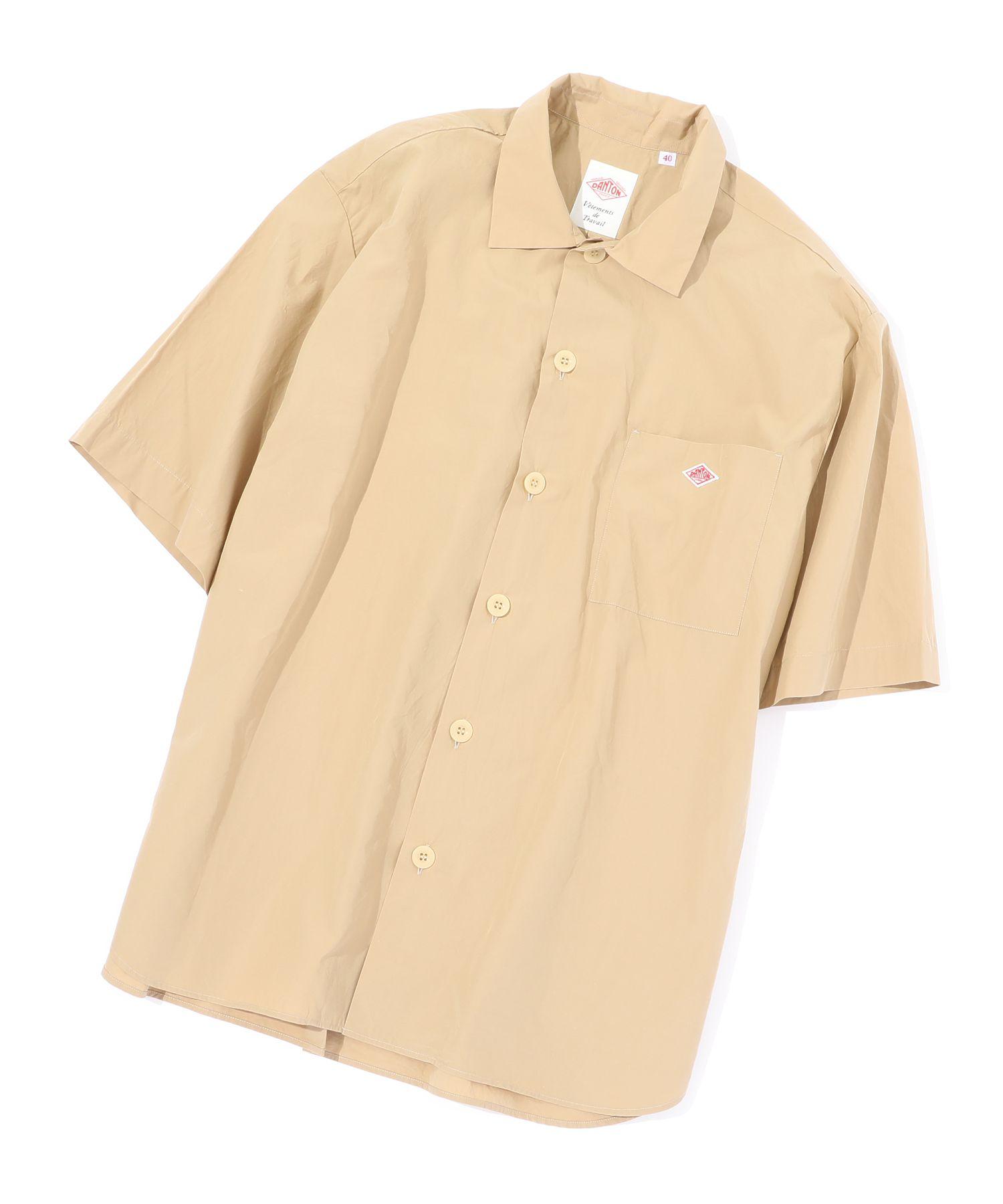 ダントン DANTON / コットンポプリン半袖ワイドシャツ Cotton Poplin SS Wide Shirt